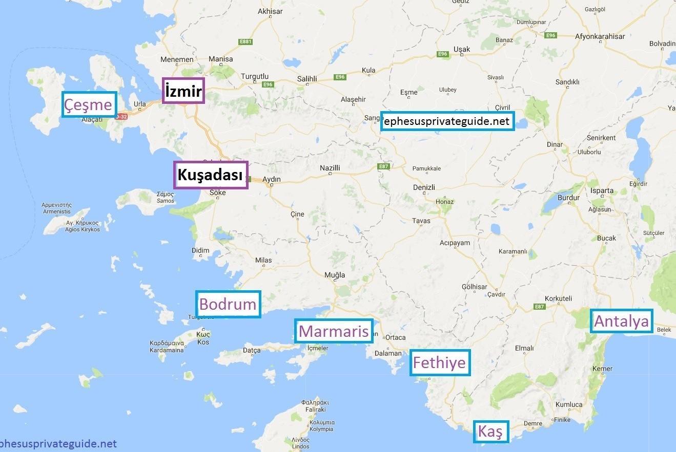Karte Von Der Turkei Holiday Resorts Karte Von Der Turkei